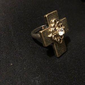 Jewelry - Gold Cross Ring